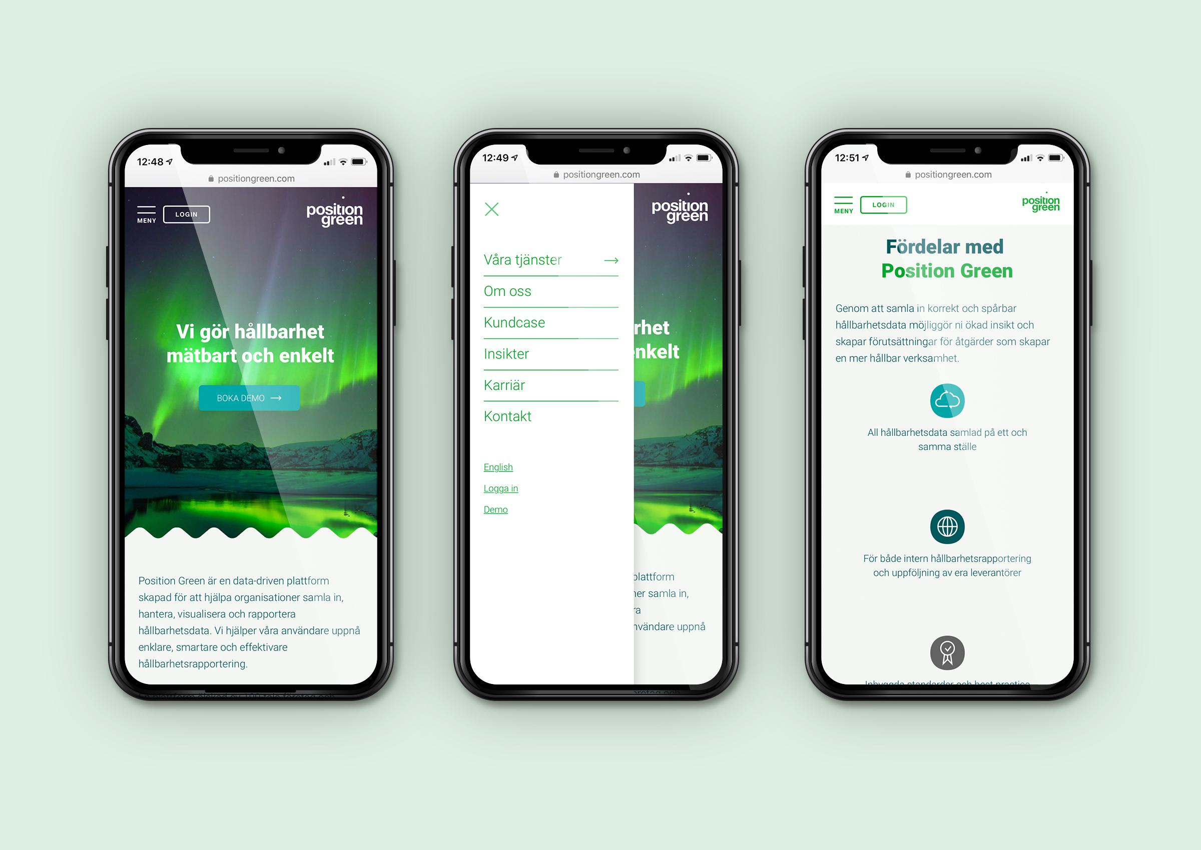 Position Green Webbplats