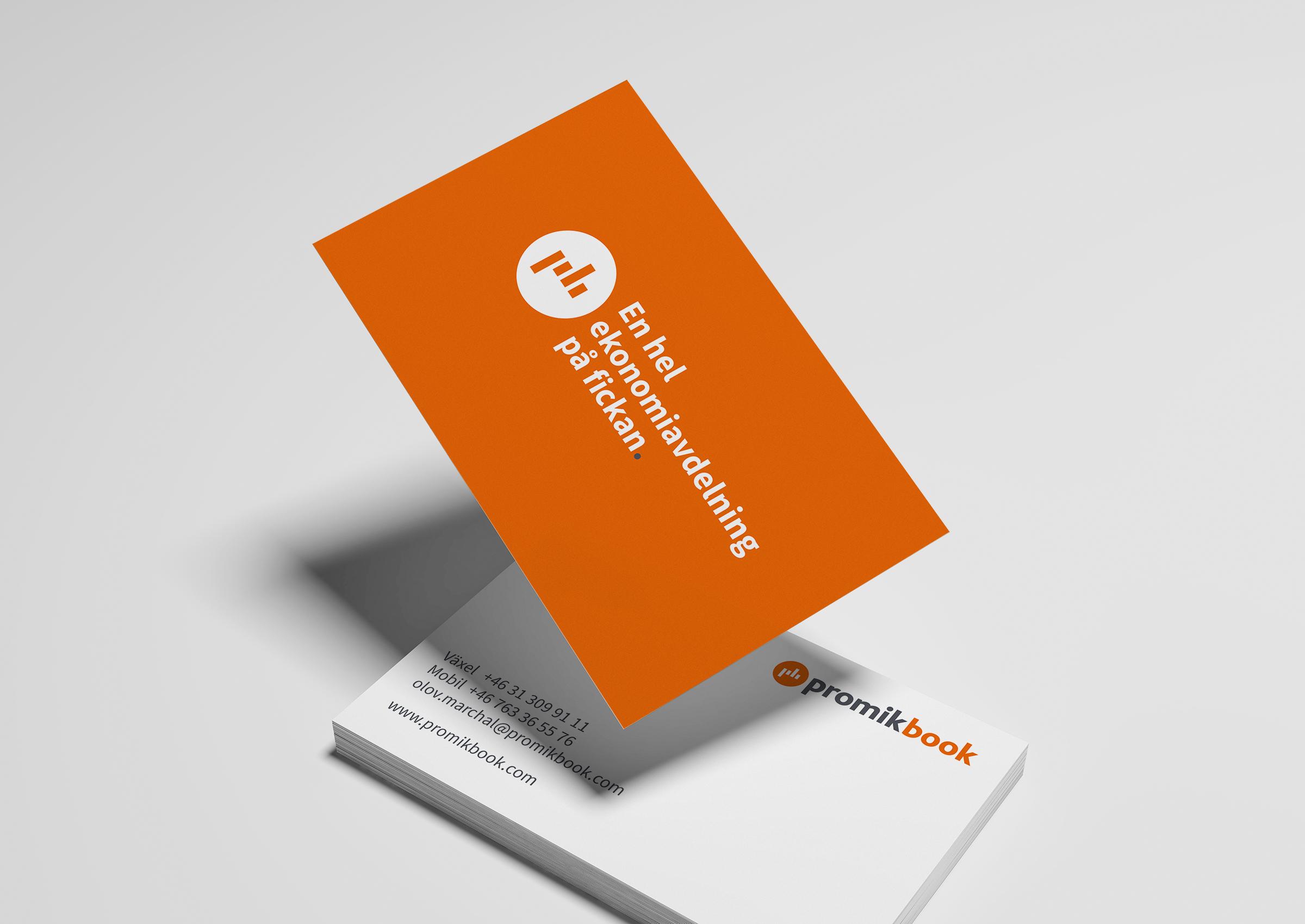 Visitkort, logotyp och payoff.